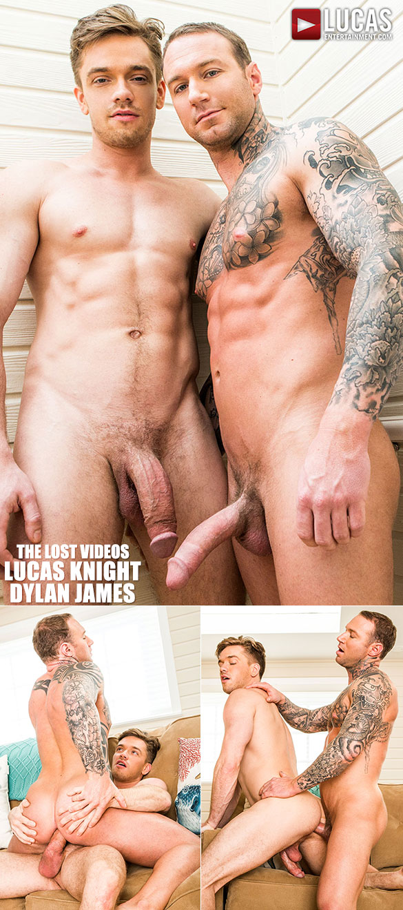 "Lucas Entertainment: Lucas Knight and Dylan James flip fuck raw in ""The Lost Videos"""