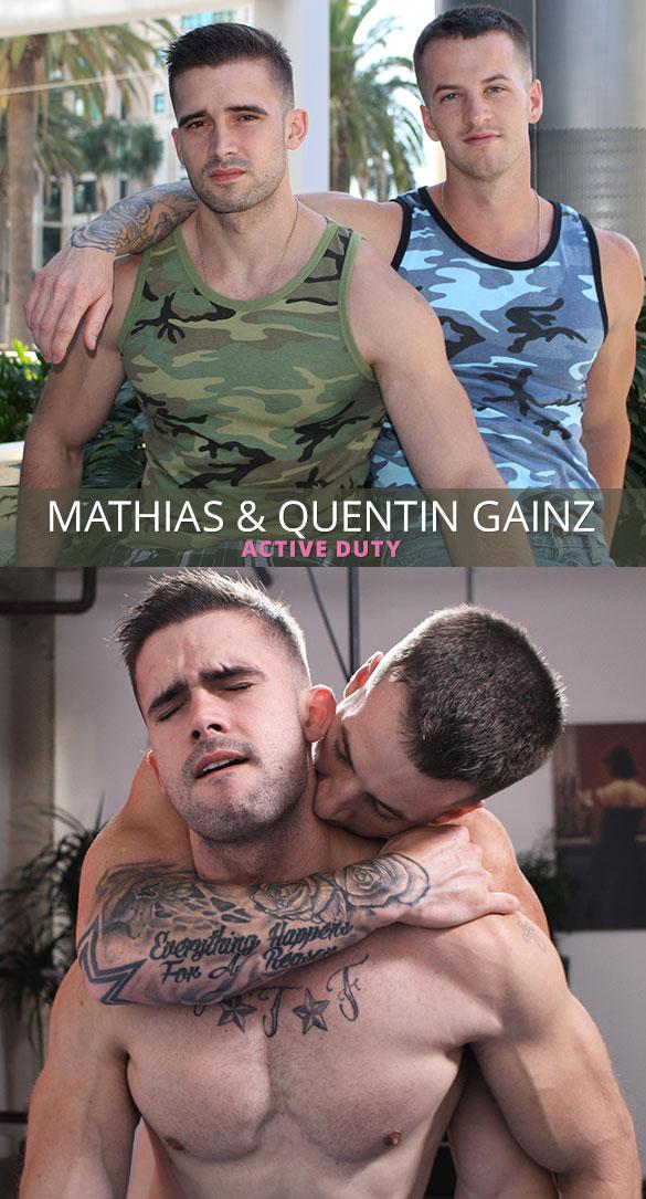 ActiveDuty: Quentin Gainz pops Mathias' ass cherry