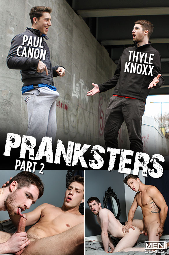 "Men.com: Paul Canon bangs Thyle Knoxx in ""Pranksters, Part 2"""