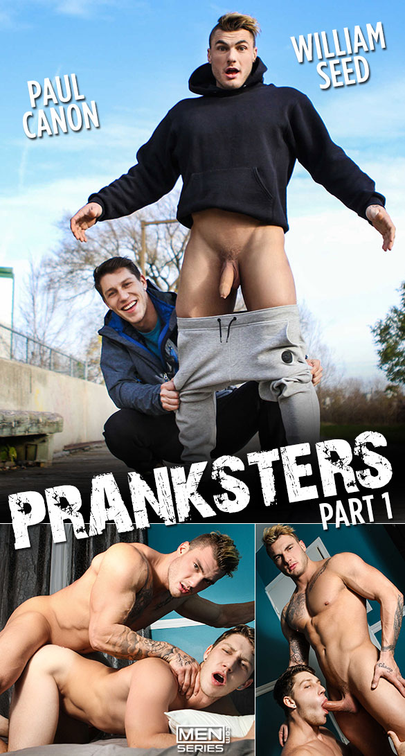 "Men.com: William Seed pounds Paul Canon in ""Pranksters, Part 1"""
