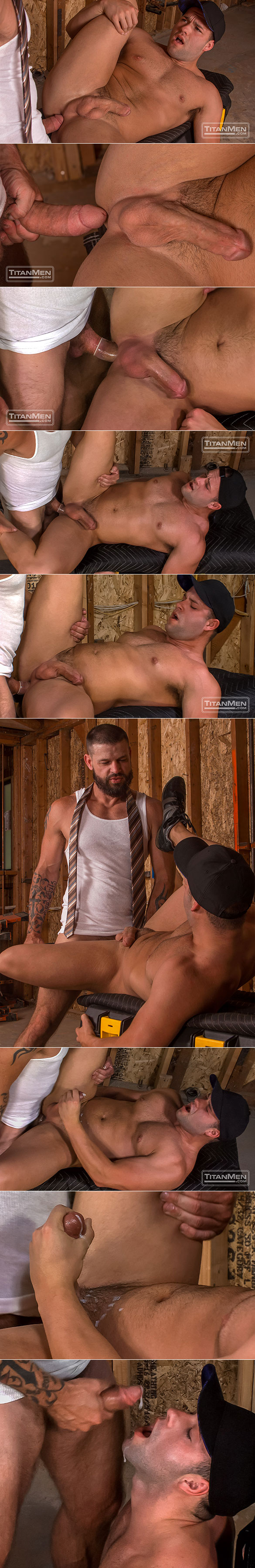 "TitanMen: Luke Adams takes Tex Davidson's 9-inch cock up his bubble butt in ""West Texas Park & Ride"""
