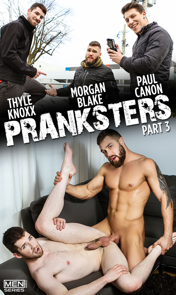 "Men.com: Morgan Blake fucks Thyle Knoxx in ""Pranksters, Part 3"""