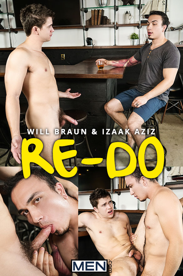 "Men.com: Izaak Aziz fucks Will Braun in ""Re-Do"""