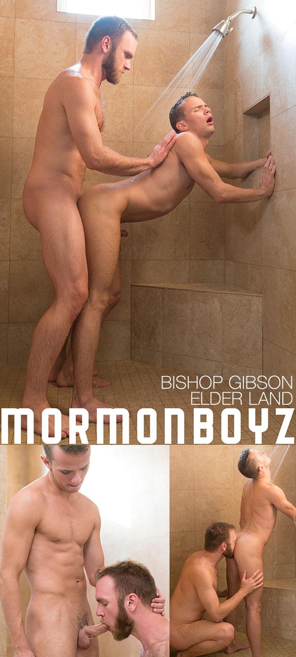 "MormonBoyz: Bishop Gibson fucks Elder Land raw in ""Temple Shower"""