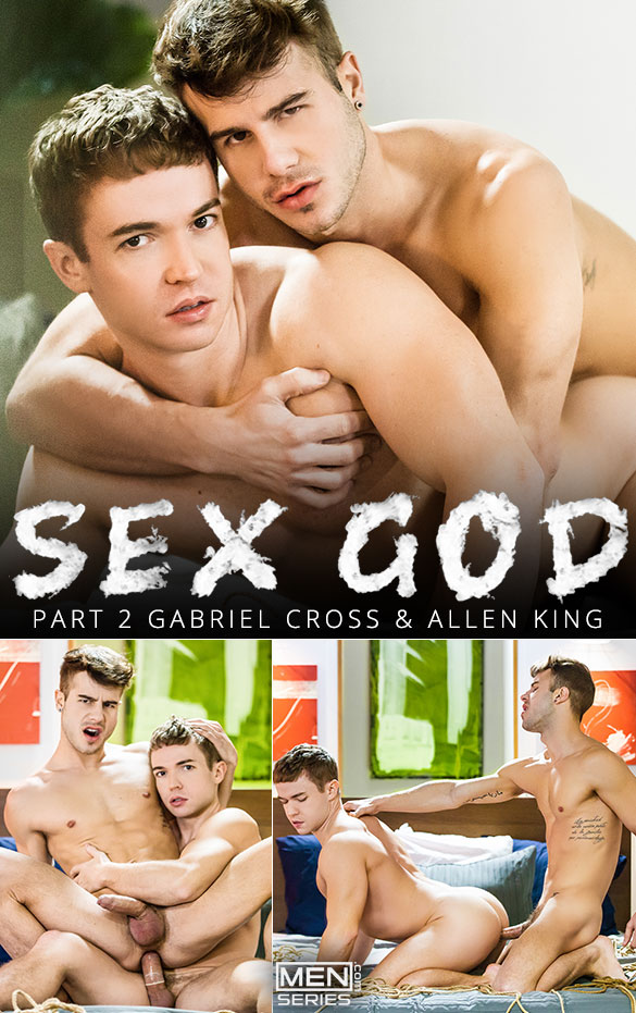 "Men.com: Gabriel Cross and Allen King flip fuck in ""Sex God, Part 2"""