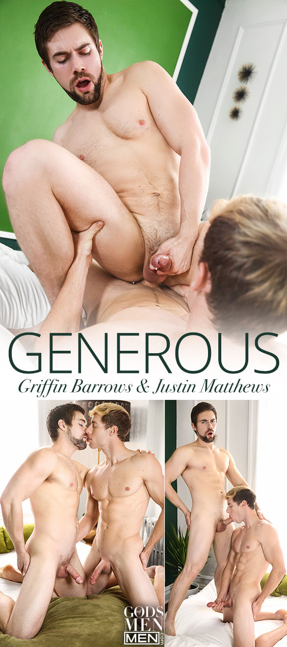 "Men.com: Griffin Barrows rides Justin Matthews in ""Generous"""