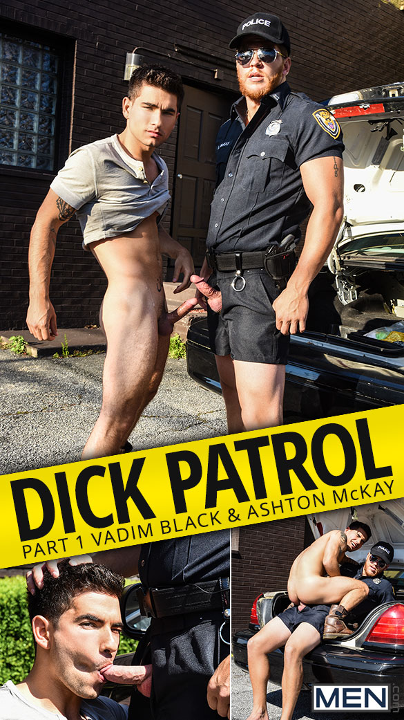 "Men.com: Ashton McKay fucks Vadim Black in ""Dick Patrol, Part 1"""
