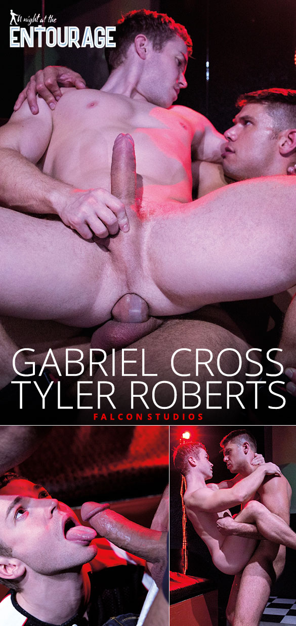 "Falcon Studios: Gabriel Cross rides Tyler Roberts' thick cock in ""A Night at the Entourage"""