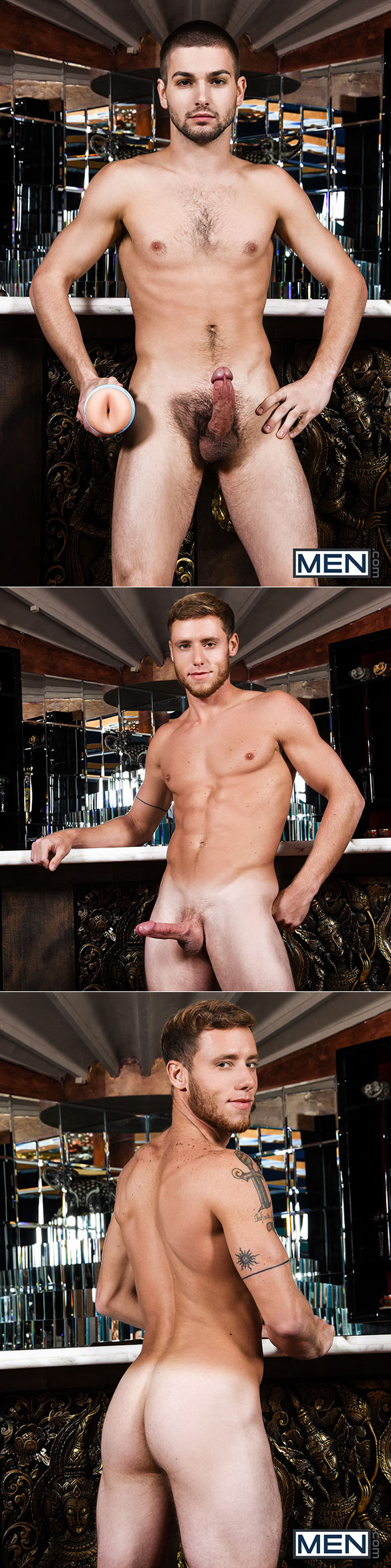 "Men.com: Johnny Rapid and Justin Matthews flip fuck in ""Fleshjack in the Flesh"""