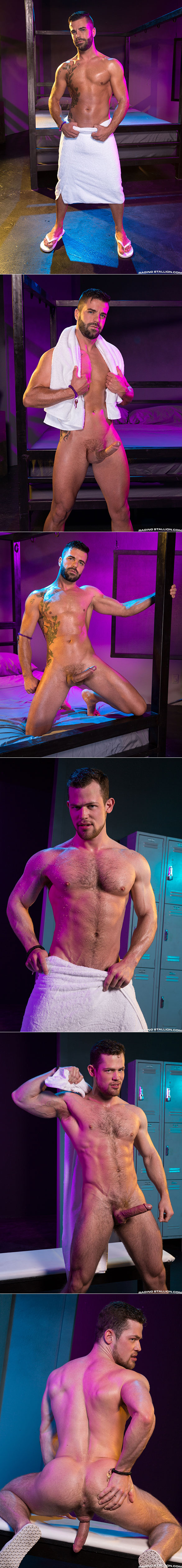 """Raging Stallion: Hector de Silva and Kurtis Wolfe suck each other off in """"Clothing Optional"""""""