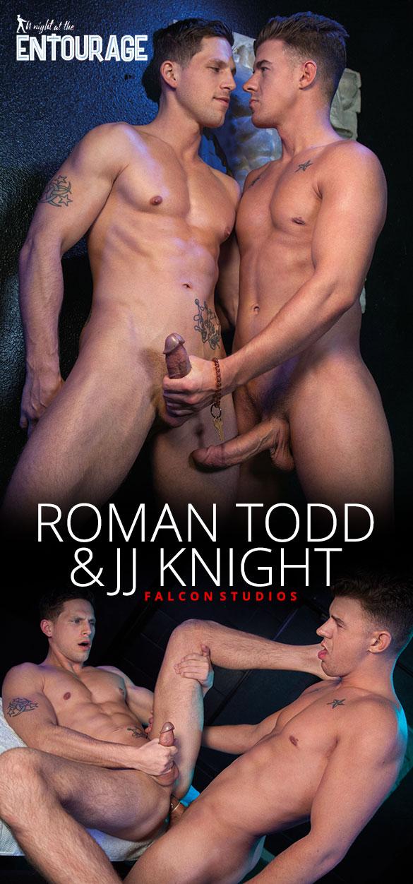 "Falcon Studios: Roman Todd takes JJ Knight's 10-inch cock in ""A Night at the Entourage"""