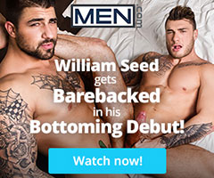 William Seed bottoms bareback at Men.com