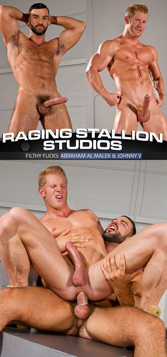 "Raging Stallion: Abraham Al Malek fucks Johnny V in ""Filthy Fucks"""