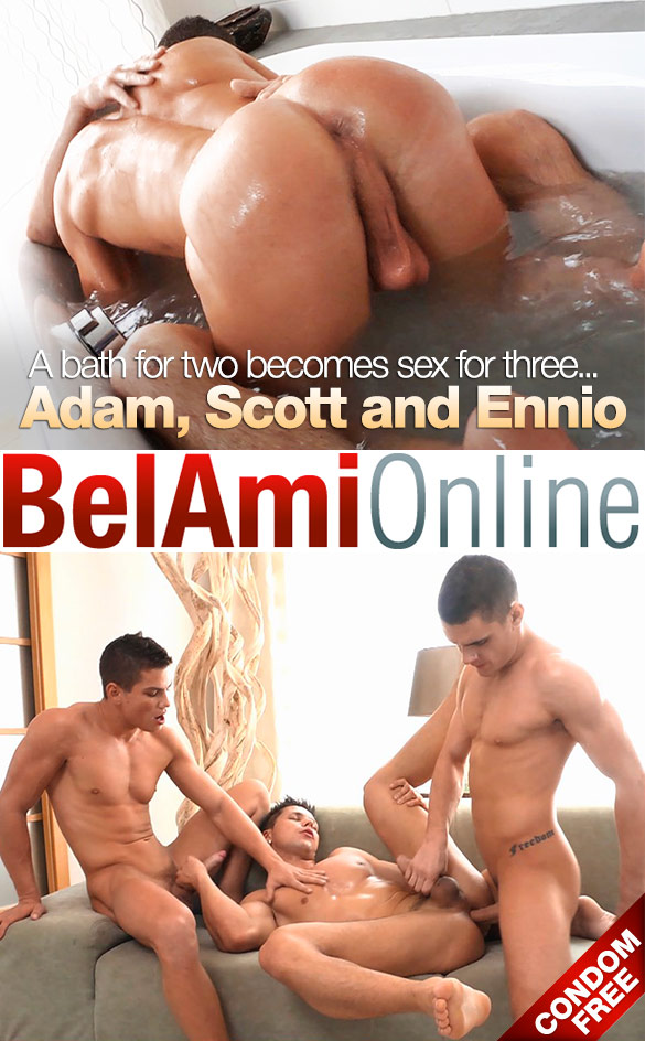 BelAmi: Adam Archuleta and Scott Reeves fuck Ennio Guardi raw