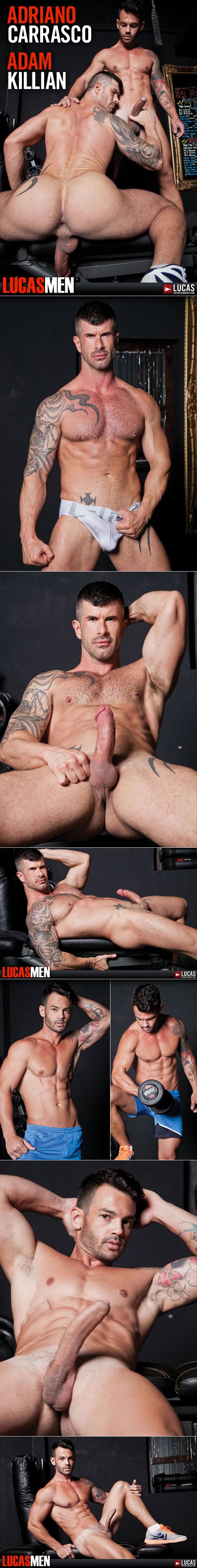 "Lucas Entertainment: Adam Killian takes a ride on Adriano Carrasco's cock in ""Lucas Men"""