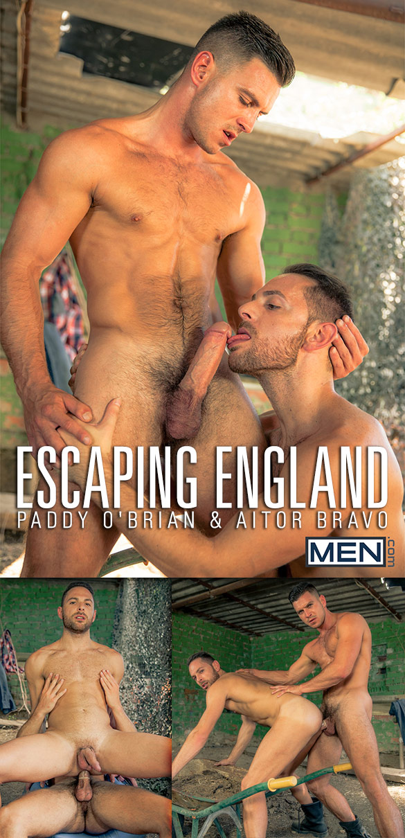 "Men.com: Paddy O'Brian bangs Aitor Bravo in ""Escaping England"""
