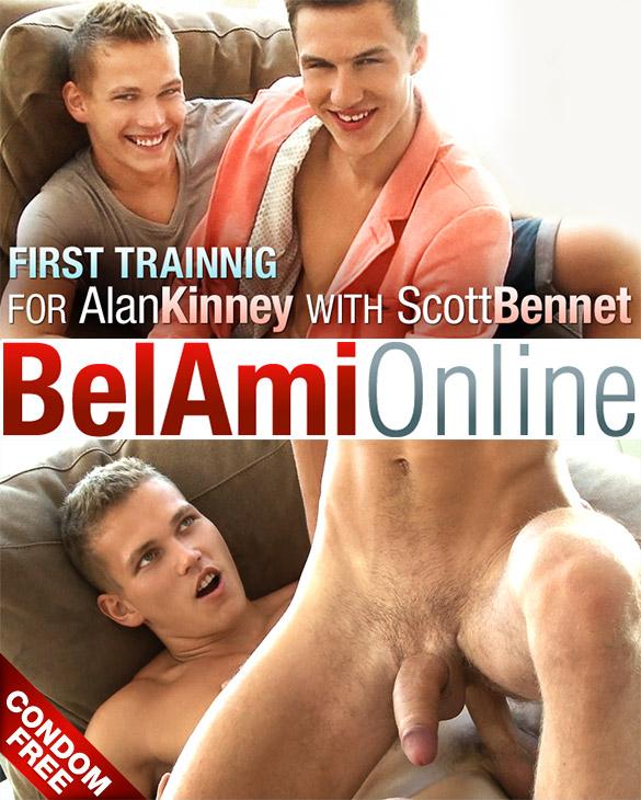 BelAmi: Scott Bennet barebacks newcomer Alan Kinney