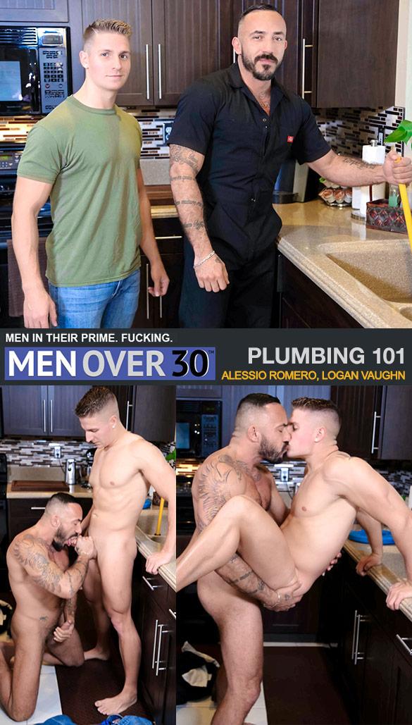 "MenOver30: Alessio Romero fucks Logan Vaughn in ""Plumbing 101"""