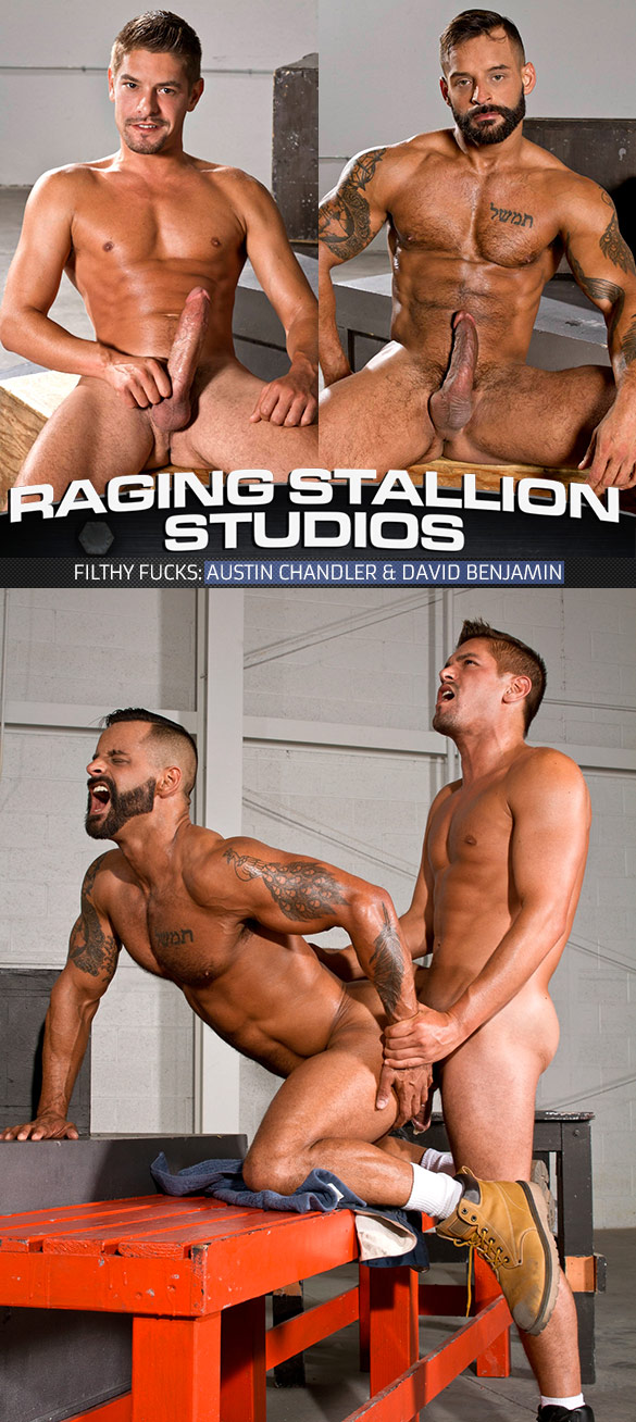 "Raging Stallion: Austin Chandler and David Benjamin bang each other in ""Filthy Fucks"""