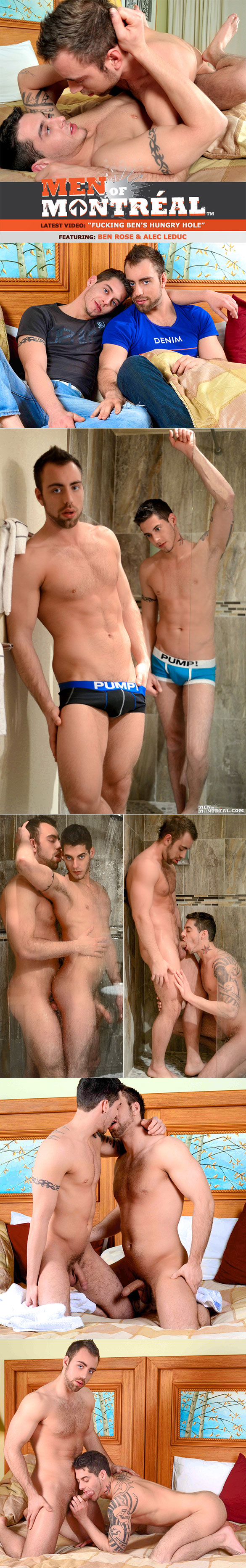 MenOfMontreal: Alec Leduc fucks Ben Rose's hungry hole