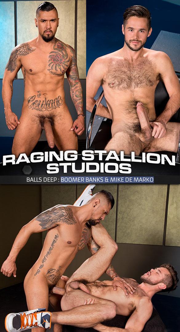 "Raging Stallion: Mike De Marko takes Boomer Banks' fat cock in ""Balls Deep"""