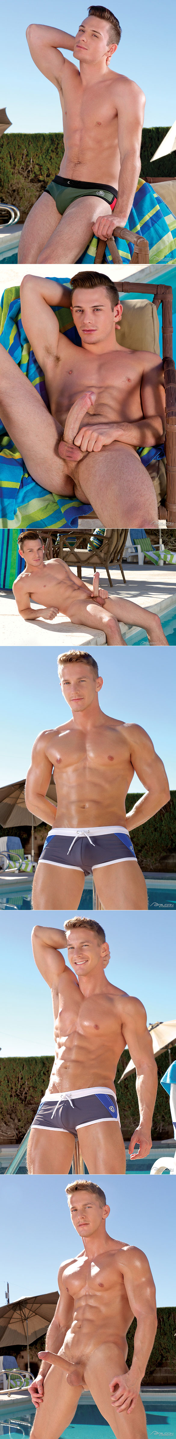 "Falcon Studios: Brent Corrigan and Darius Ferdynand flip fuck in ""Poolside 1"""