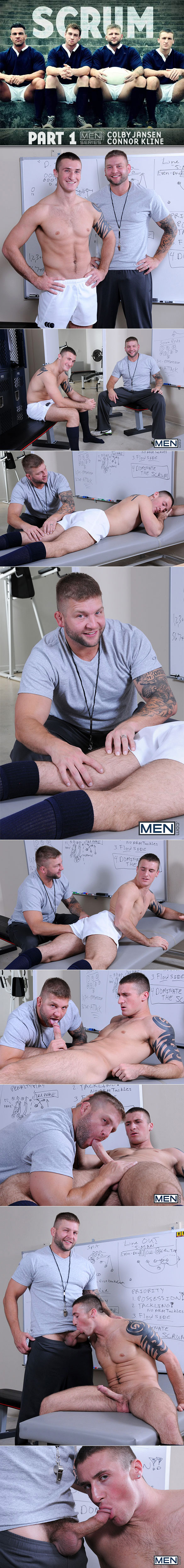 "Men.com: Colby Jansen pounds Connor Kline in ""Scrum, Part 1"""