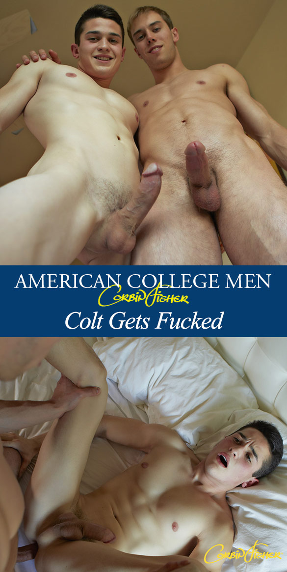 Corbin Fisher: Jacob barebacks Colt's virgin ass