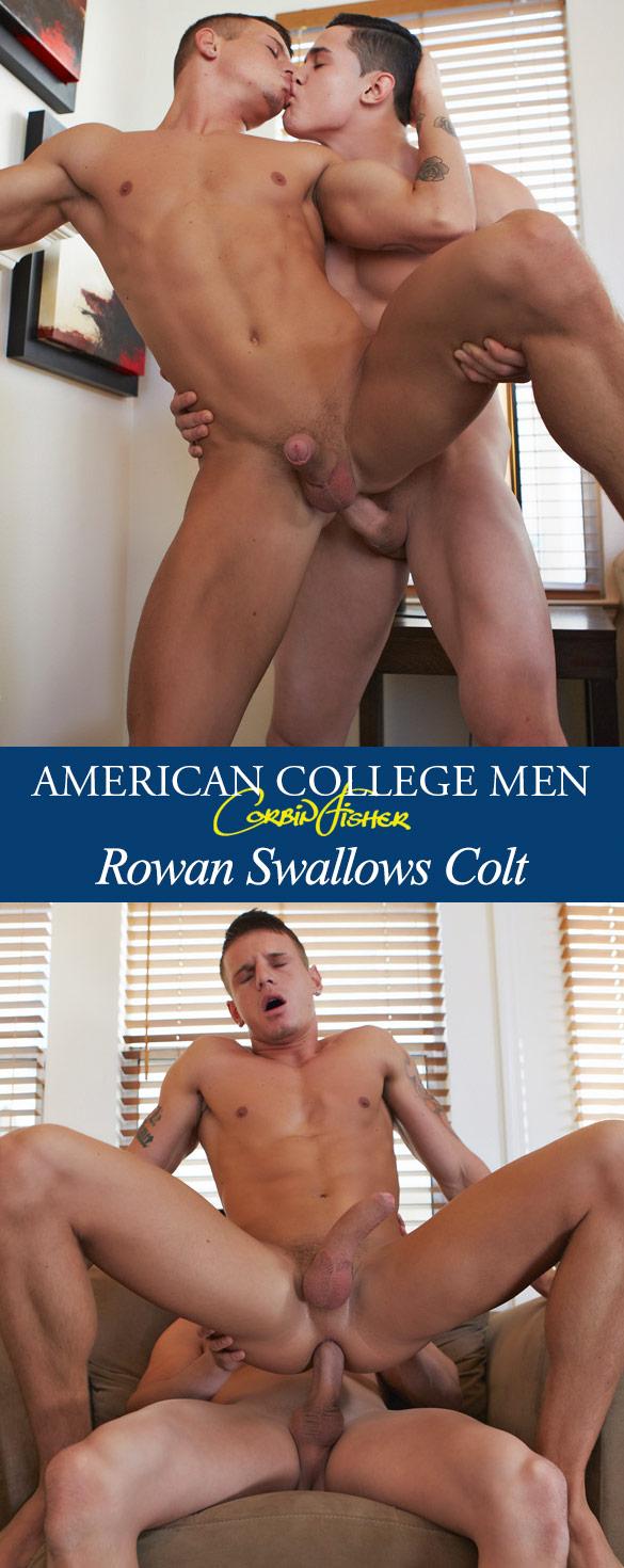Corbin Fisher: Colt barebacks Rowan