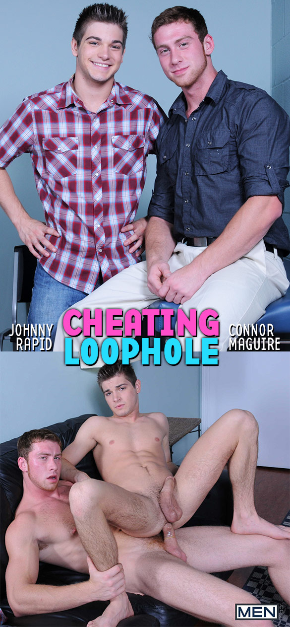 "Men.com: Connor Maguire fucks Johnny Rapid in ""Cheating Loophole"""