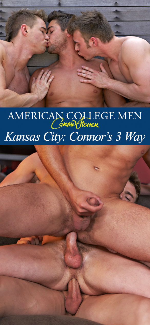 Corbin Fisher: Brayden, Zeb and Connor's hot bareback threeway
