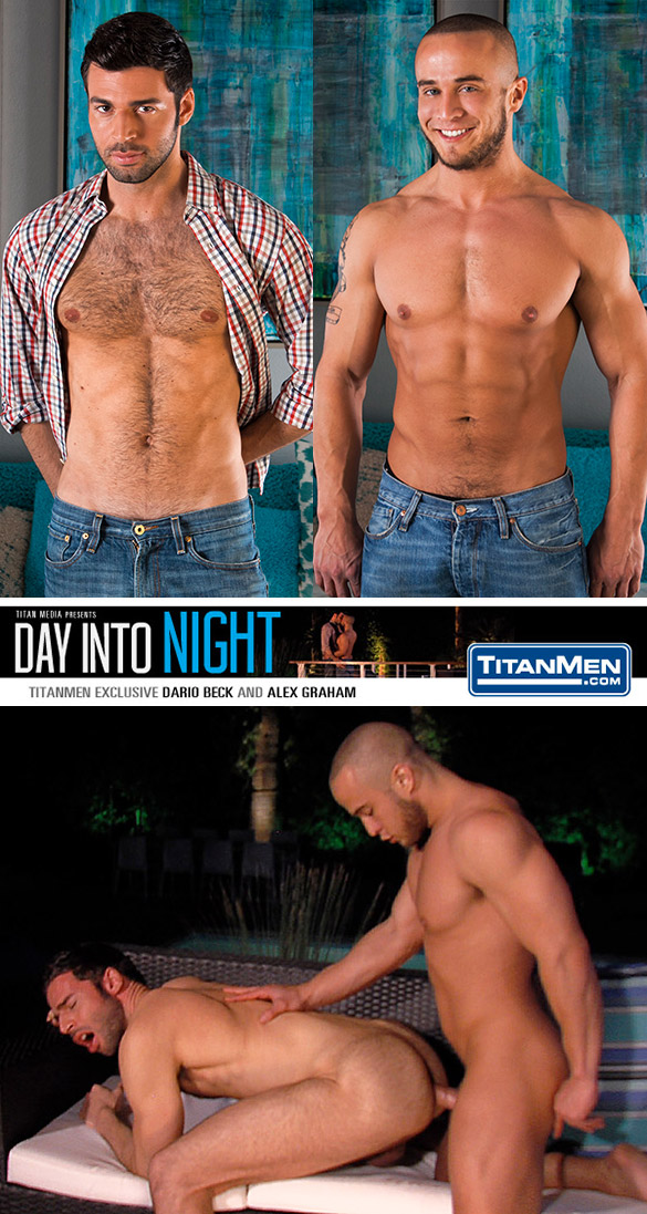 "TitanMen: Alex Graham fucks Dario Beck in ""Day Into Night"""