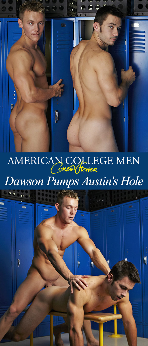 Corbin Fisher: Dawson pumps Austin's hole bareback