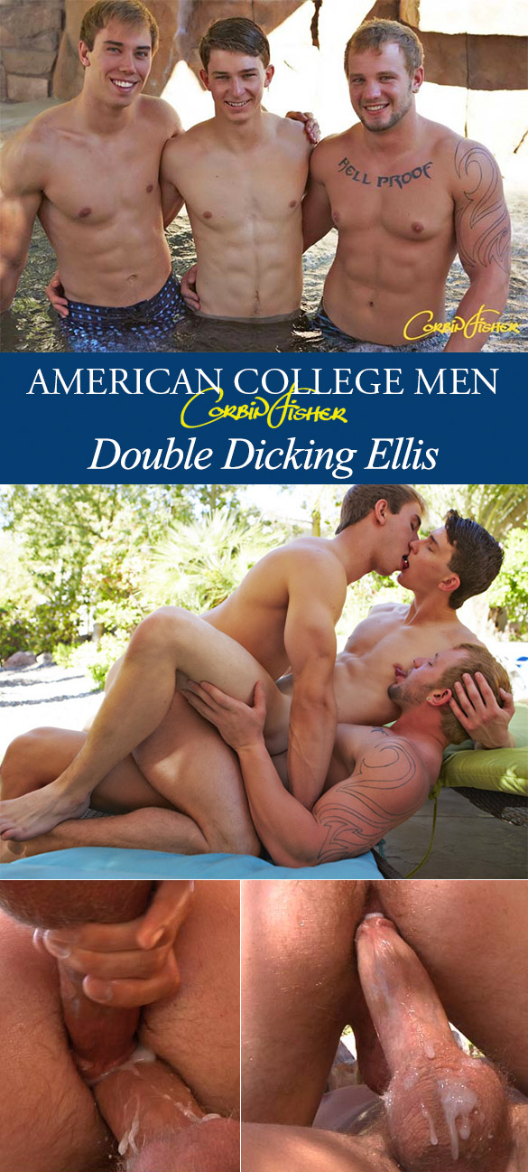 Corbin Fisher: Ellis gets double creampied by Jacob and Tom