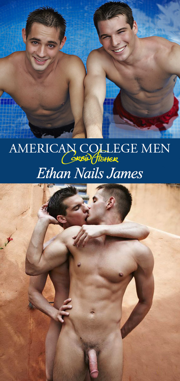 Corbin Fisher: Ethan barebacks James