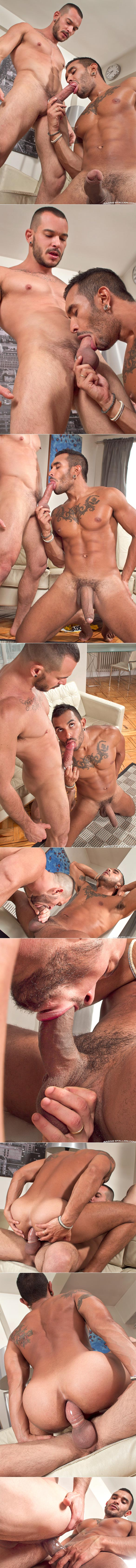 "RagingStallion: Lucio Saints, Tomy Hawk and Francesco D'Macho in ""Addicted"""