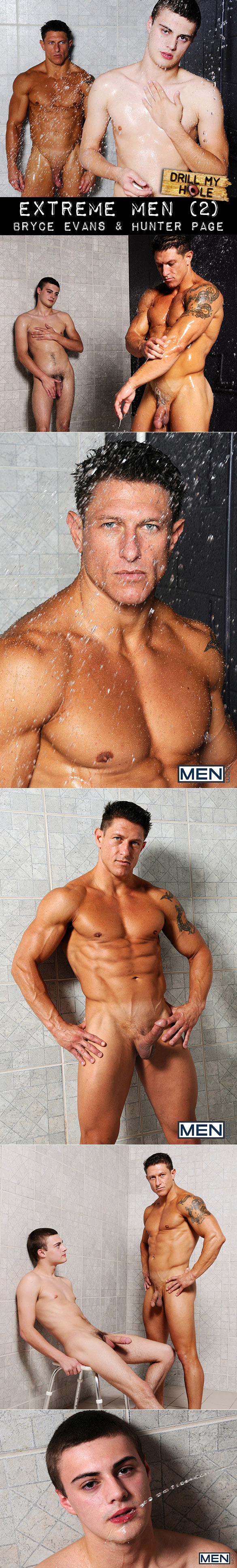 "Men.com: Bryce Evans pounds Hunter Page in ""Extreme Men, Part 2"""
