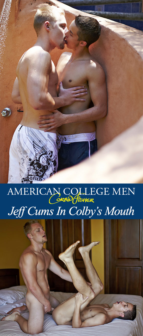 Corbin Fisher: Jeff fucks Colby's tight hole bareback