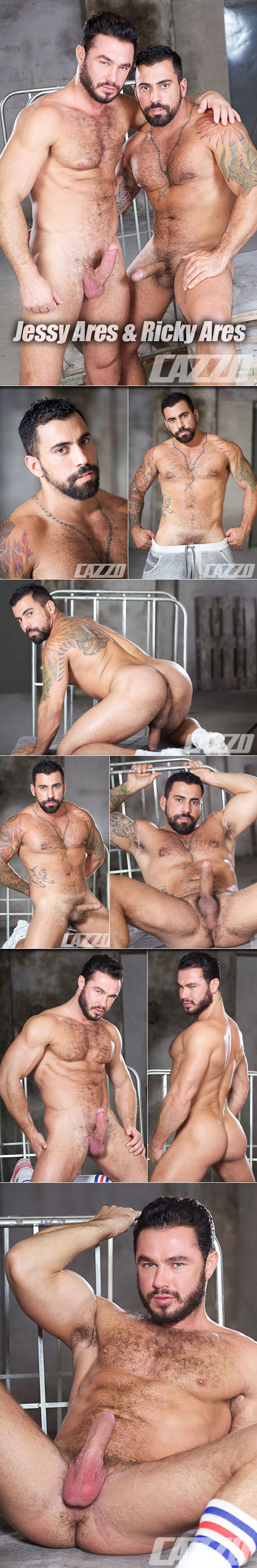 CazzoClub: Jessy Ares and his real-life boyfriend Ricky Ares bang each other