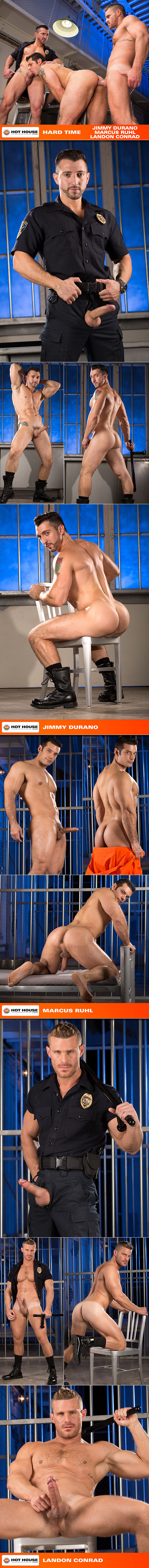 "Hot House: Marcus Ruhl gets fucked by Jimmy Durano and Landon Conrad in ""Hard Time"""