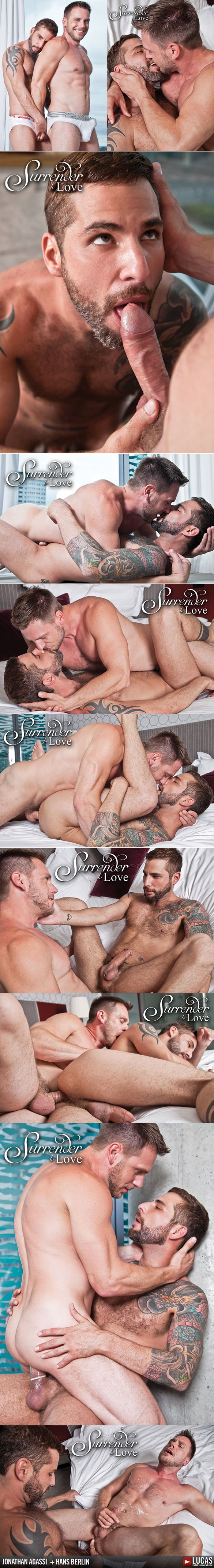"Lucas Entertainment: Jonathan Agassi and Hans Berlin fuck each other in ""Surrender to Love"""