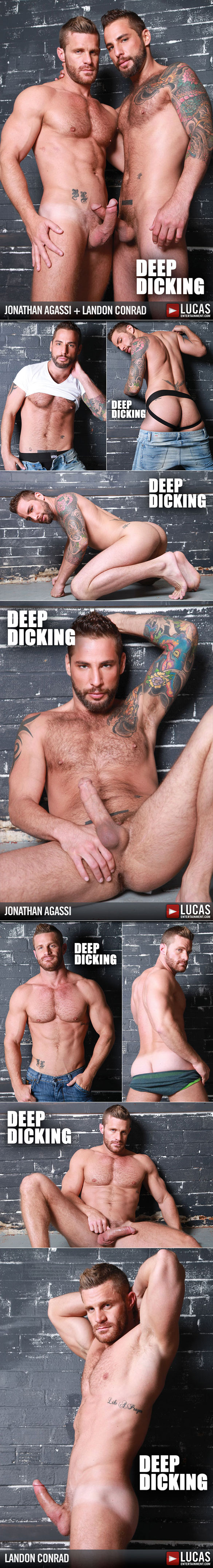 "Lucas Entertainment: Jonathan Agassi and Landon Conrad flip fuck in ""Deep Dicking"""