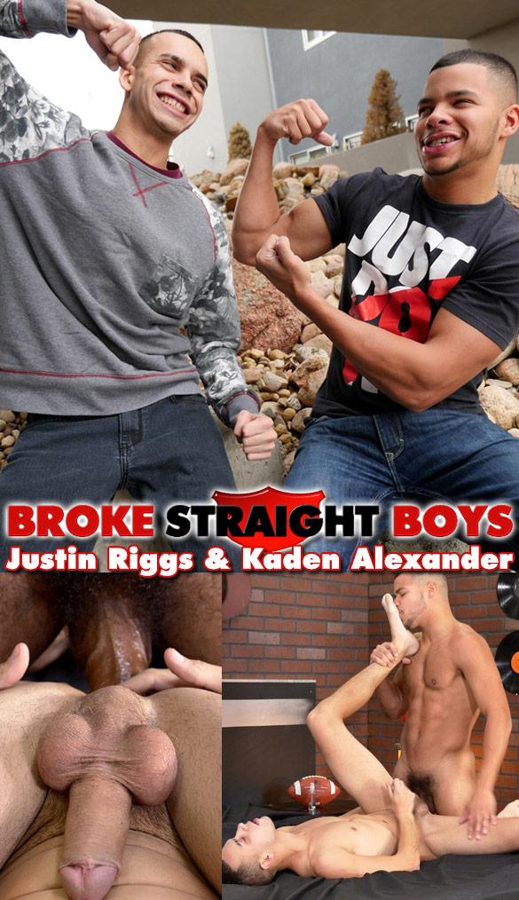 Broke Straight Boys: Kaden Alexander fucks Justin Riggs bareback
