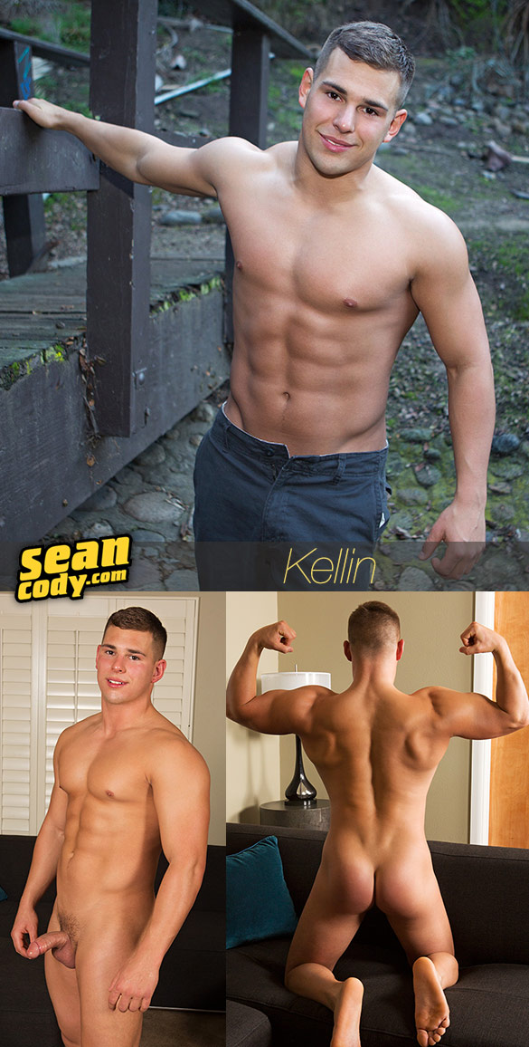 Sean Cody: Muscle jock Kellin busts a nut