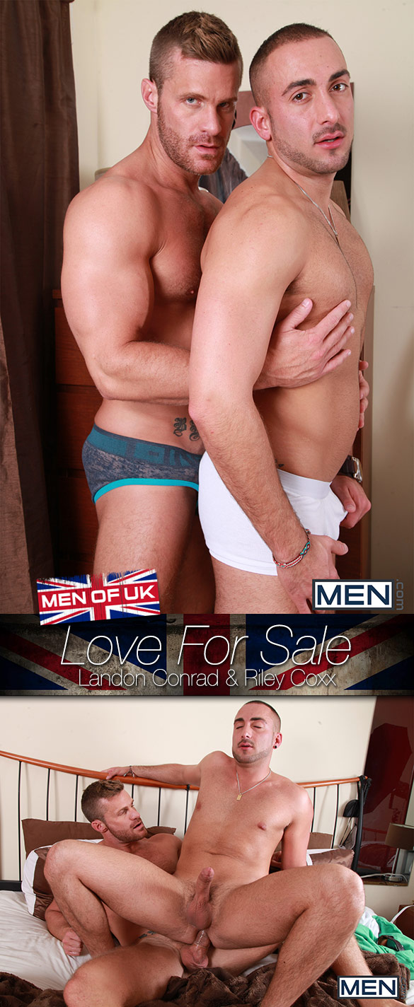 "Men.com: Landon Conrad and Riley Coxx fuck each other in ""Love For Sale"""