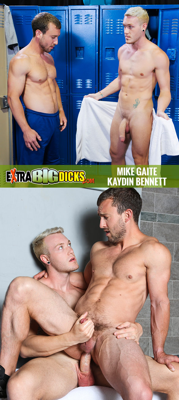 "Extra Big Dicks: Mike Gaite rides Kaydin Bennett's big cock in ""I Can Take It"""