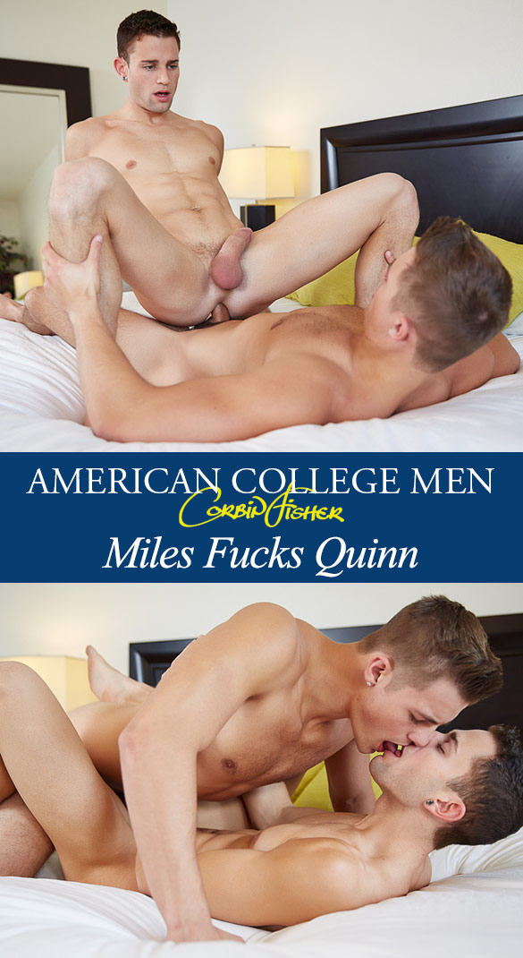 Corbin Fisher: Miles fucks Quinn bareback