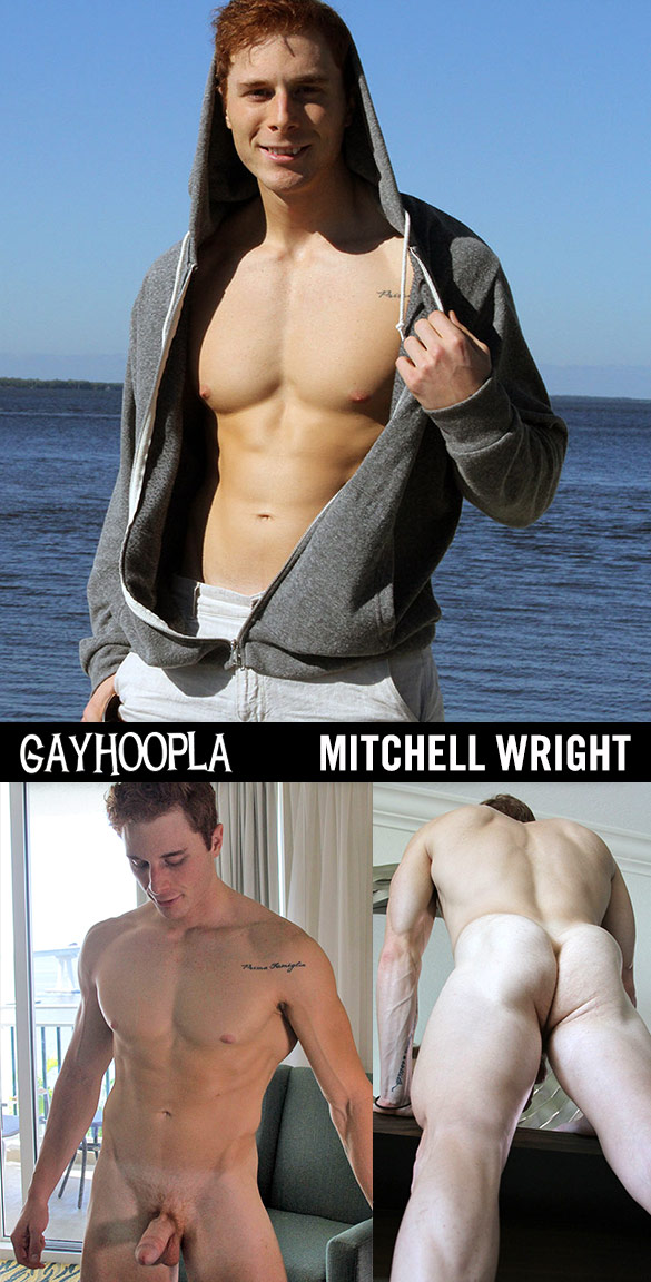 GayHoopla: Mitchell Wright busts a nut