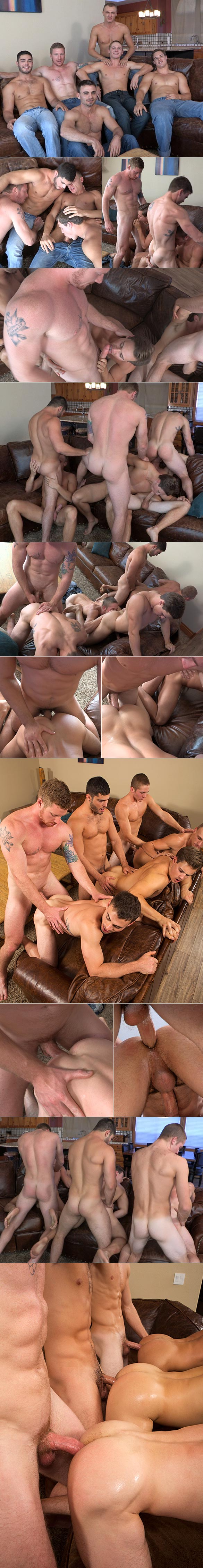 "Sean Cody: David, Tanner, Bryce, Andy, Coleman and Noel in ""Mountain Getaway: Day 4"""
