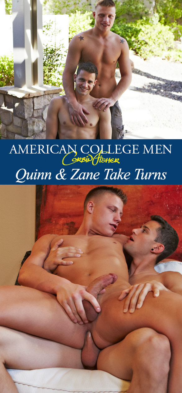 Corbin Fisher: Quinn and Zane fuck each other bareback